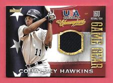 2013 Courtney Hawkins Panini USA Champions Rookie Game Gear Jersey - White Sox