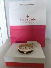 "KATE SPADE NEW YORK ""HOLE PUNCH SPADE"" BANGLE BRACELET ~ NWT & GIFT BAG GENUINE"