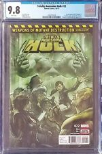 Totally Awesome Hulk 22 CGC 9.8 First Weapon H 1st Print Marvel Comic NM/MT