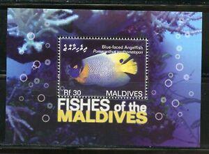 FISH II OF THE MALDIVES SET, SHEET & TWO SOUVENIR SHEETS MINT NH