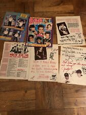 New Kids on the Block nkotb Vintage Clippings Bop Magazine Christmas Handwr