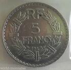 5 francs lavrillier alu 1949 : TTB : pièce de monnaie française