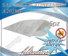 A202MF 5 sacchetti filtro microfibra x De Longhi Bidoni