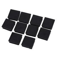 5X(10Pcs Black 40mm x 40mm Plastic Square Tube Inserts End Blanking Caps M8 C1Y1