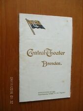 More details for 1902 central theater theatre dresden germany programme