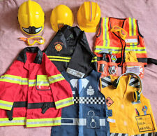 Fireman Fire fighter Costume Role Play profession builder police fancy boy gift