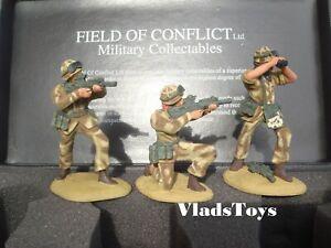 Field of Conflict 1:32 metal 3 figure sets Iraq War British Marines Set 2 IWBM2