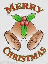 Christmas Cling On Vinyl Car Window Sticker - Gold Bells cc23