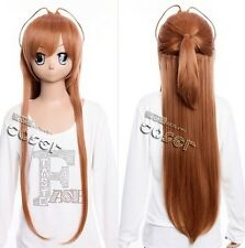 W-292 lycée of the Dead rei Miyamoto Marron Brown 90cm cosplay perruque wig