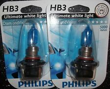 Philips HB3 Diamond Vision 5000k HB3 PHILIPS DIAMOND VISION Mise à Niveau Ampoules 9005