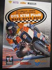 Programma boekje DTS KTM Pirelli Race Days 27 -28 Augustus 2011 TT Circuit Assen