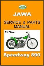 JAWA ESO Workshop & Parts Manual Speedway 500 890 2V Maintenance Service Repair