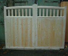 wooden driveway gates 6ft h x 12 ft w w walton arch-top