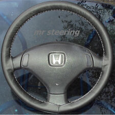 FITS HONDA DELSOL LEATHER STEERING WHEEL COVER GREY ST
