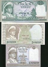 NEPAL SET 3 PCS 1 10 100 RUPEES P 16 18 19 AU-UNC