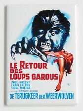 Return of the Werewolf (France) FRIDGE MAGNET (2.5 x 3.5 inches) movie poster