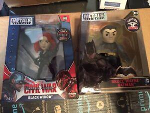 New Lot Metals Die Cast Marvel M48  Civil War Black Widow DC M13 Batman