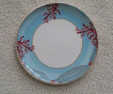 "Tropical Coral Ocean Design on 11"" Plate Made in Italy"