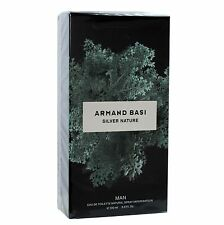 ARMAND BASI SILVER NATURE FOR MAN EAU DE TOILETTE NATURAL SPRAY 100ML  NIB
