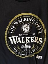 The Walking Dead Adult Men's T-shirt 100% INFECTED JOHNNY WALKERS Black Large