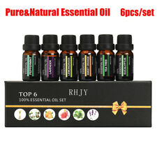 ESSENTIAL OILS SET Of 6 100% Pure Aromatherapy kit 10mL Bottles Gift Box GN