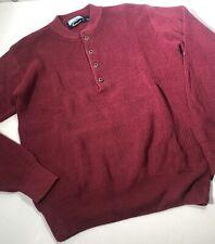Fieldmaster Thick Knit Sweater Thermal Men's Medium Burgundy