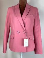 Bershka Elegant Boho Modern Long Sleeves Work Chic Pink Blazer Jacket Size M
