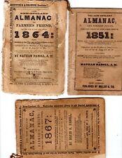 5 New England Almanacs New London Ct 1851, 1855,1857, 1864, 1867 Whaling