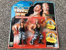 VINTAGE 1991 WWF WRESTLING TAG TEAMS THE BUSHWHACKERS LUKE & BUTCH FIGURES MOC