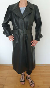 Offiziers Ledermantel Wehrmacht Militärmantel Leathercoat Army Vintage 40 - 42