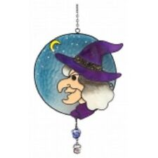 "WITCHES OF PENDLE *WITCHES FACE"" LIGHT/ SUN CATCHER 23 CMS OCCULT/ WITCH"