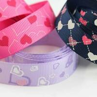 GROSGRAIN 10/16/25mm RIBBON HEART DESIGNS CAKES CARD MAKING CRAFTS DUMMY CHAINS