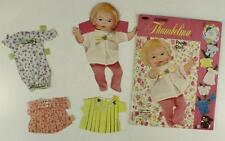 Vintage Paper Doll Lot WHITMAN 1969 Newborn THUMBELINA With Outfits Book #1967