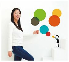 Stunning Removable Vinyl Wall Sticker - Rainbow Bubbles SA-12-025