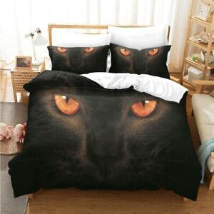 2Pcs 3Pcs Animal Quilt Doona Duvet Cover Set Single Double Queen King Size Bed