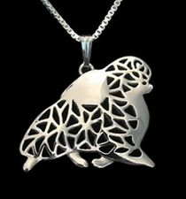 Pomeranian Dog Pendant Necklace -  Fashion Jewellery - Silver Plated
