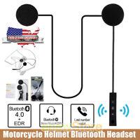 Rechargeable Motorcycle Helmet Headset Speaker Mic Bluetooth Handsfree Music NEW
