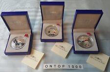 """Frankreich 2005 """"Hello Kitty"""" 3 x 1,5 Euro Silber PP rar!"""