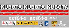 Kubota KX161-2 Mini Gräber komplett Abziehbild Satz mit Sicherheit Warnzeichen