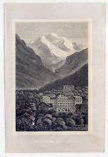 Interlaken und die Jungfrau - Holzstich 1880