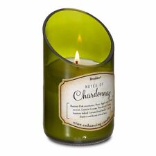 Green Glass Wine Bottle w/ Chardonnay Scented Candle 40 Hours Burn Time