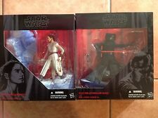 "Star Wars-The Force Awakens KYLO REN & REY STARKILLER BASE Black Series 6""-RARE."
