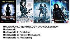 UNDERWORLD QUADRILOGY Set Part 1 2 3 4 Michael Sheen, Kate Beckinsale NEW R2 DVD