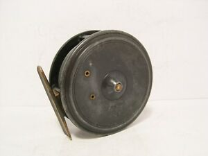 "Vintage Antique Alloy Dingley 3 1/2"" Fly Fishing Reel - Retaining Well"
