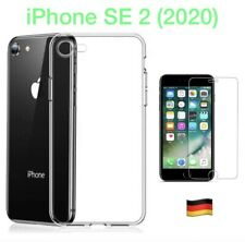 iPhone SE 2020 Hülle Silikon Handy Schutz Cover TPU Case Transparent + 9H GLASS