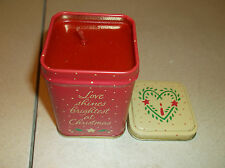 SET OF 2 AVON LIGHT ON CHRISTMAS CANDLES IN A TIN