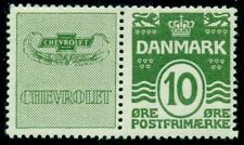 DENMARK (RE5) 10ore green CHEVROLET advertising pair, og, NH, VF