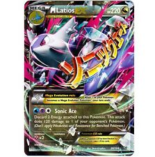 MEGA M LATIOS EX 59/108 Ultra Rare Holo Foil Star Pokemon Card! XY Roaring Skies