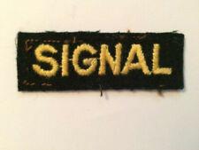 SIGNAL WW2 Military Signal Shoulder Title Civil Defence Cloth Badge