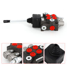 11gpm Hydraulic Directional Control Valve Tractor Loader 2 Spool Joystick Used